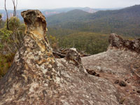 Unusual rock formations on Liversidge Ridge